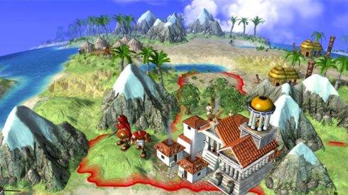 Civilization Revolution city screenshot.